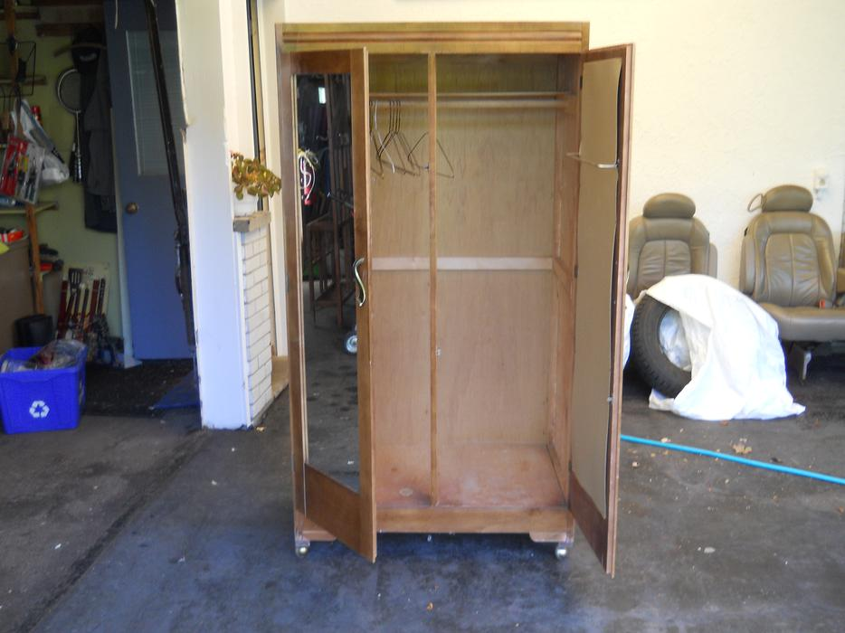 Antique wooden stand alone wardrobe nepean ottawa for Stand alone wardrobe