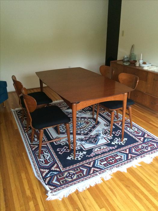 TEAK MID CENTURY DINING TABLE 4 CHAIRS Victoria City  : 49054643934 from www.usedvictoria.com size 525 x 700 jpeg 61kB