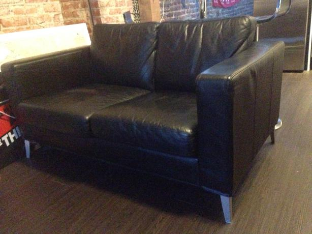 black leather ikea couch love seat victoria city