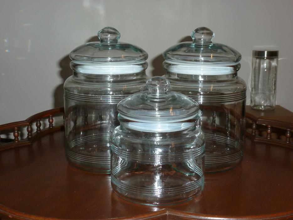Deer Canister Set >> 3-PIECE GLASS CANISTER SET Central Nanaimo, Nanaimo