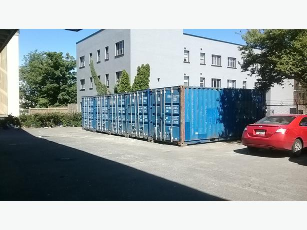 20 foot storage container rental in downtown location