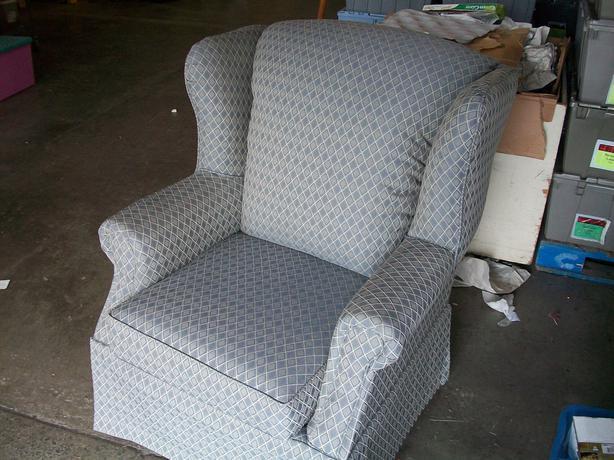 Was 60 Comfortable Wing Back Chair For Sale At St Vincent De Paul On Quadra Saanich Victoria