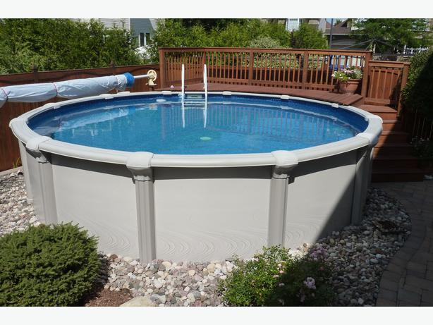 18 foot sharkline escape above ground pool piscine hors for Piscine hors terre