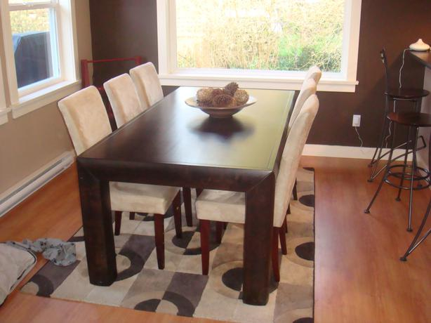 Urban Barn Dining Table Brown Yoshi Collection Chairs Not Included