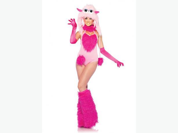 Monster Halloween Costume pink S/M