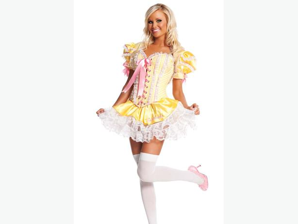 3-pce Fairytale Goldilocks Cosplay Costume L