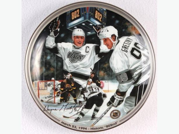 NHL Plate Wayne Gretzky 802nd goal