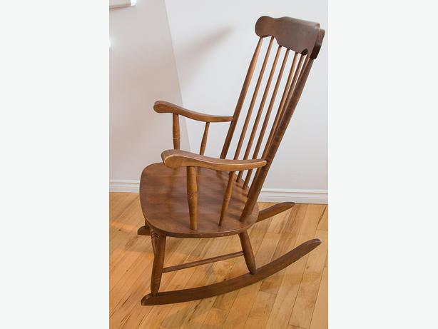 Old fashioned rocking chair in very good condition.