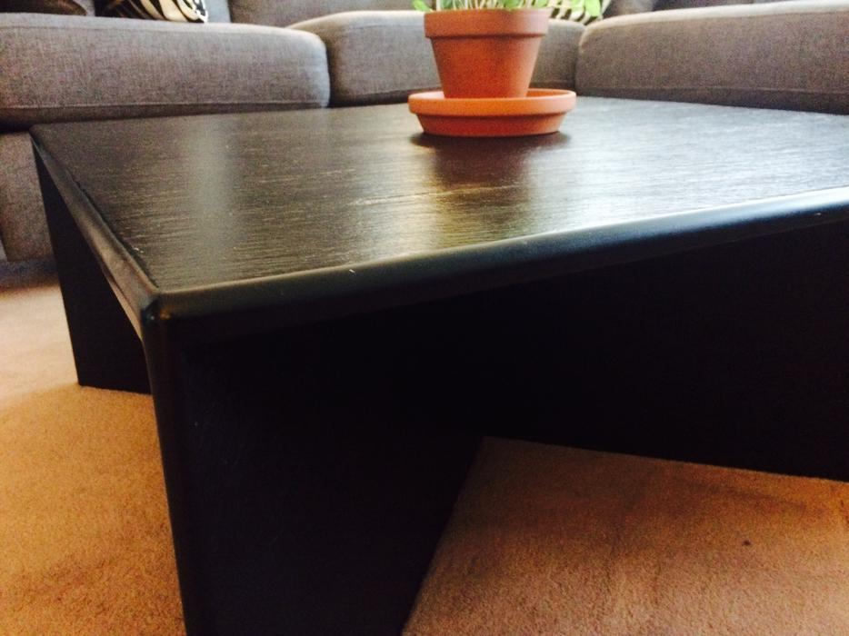 Unique black composite coffee table central ottawa inside for Coffee tables london ontario
