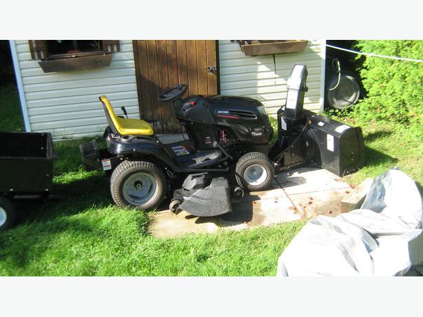 Riding Lawn Mower With Snowblower Attachment Stittsville