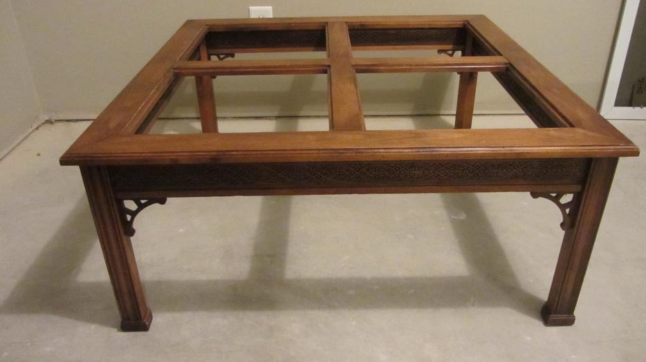 Asian Inspired Square Coffee Table Saanich Victoria