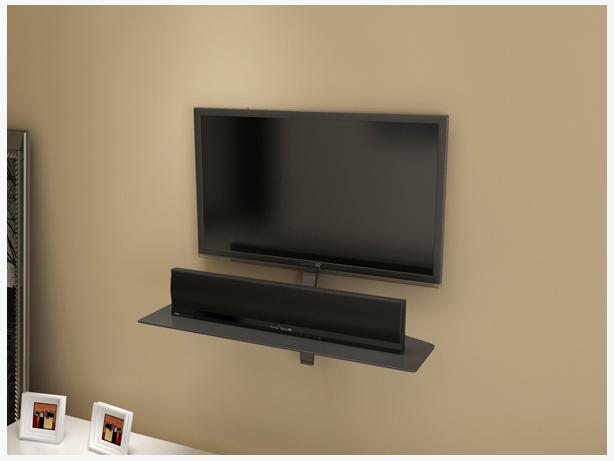 flat screen wall mount and floating wall shelf saanich victoria. Black Bedroom Furniture Sets. Home Design Ideas