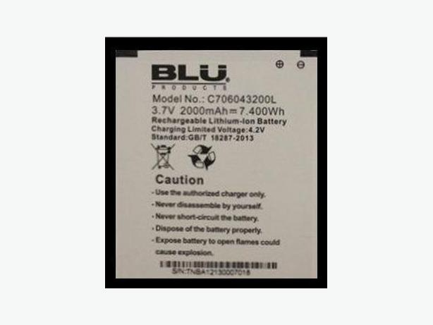 WANTed: Blu Battery # C706043200L (3.7V) (2000mAh) (400Wh) $3$