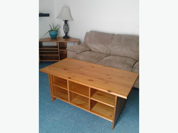 Sold ikea leksvik matching coffee table and corner tv for Matching tv stand and coffee table