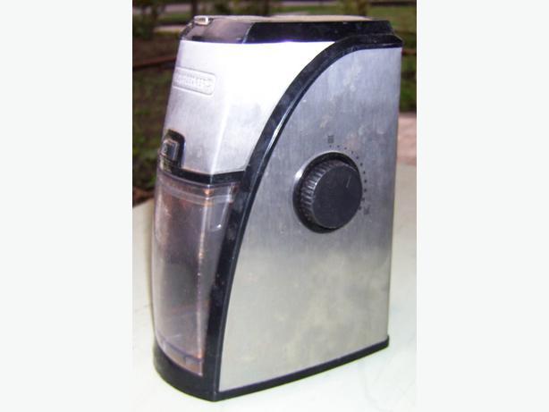 Black And Decker Coffee Grinder ~ Black and decker coffee grinder burr saanich