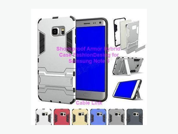 Shockproof Armor Hybrid Stand Case for Samsung Galaxy Note 5
