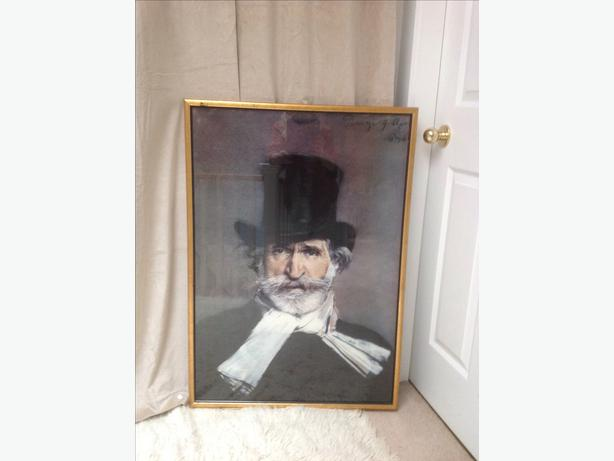 Verdi. framed print , music room