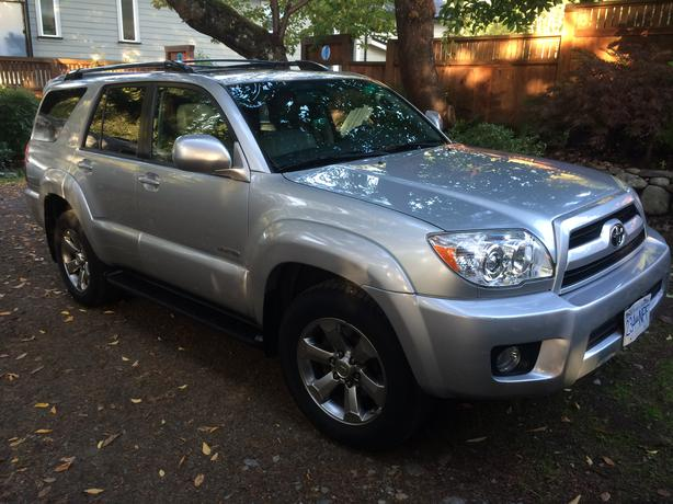 2007 toyota 4 runner limited v6 sale priced to move west. Black Bedroom Furniture Sets. Home Design Ideas