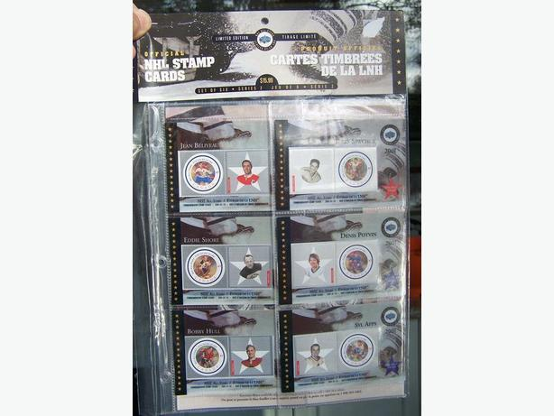 NEW SEALED CANADIAN HOCKEY STAMP SETS