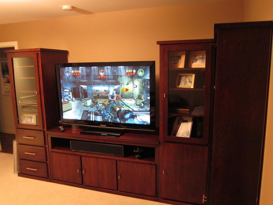 Custom Built Wall Unit Entertainment Centre TV Console