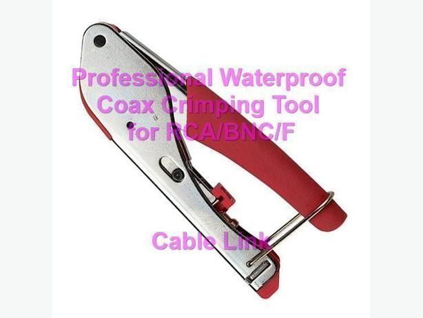 Professional Waterproof Coax Crimping Tool for RCA/BNC/F
