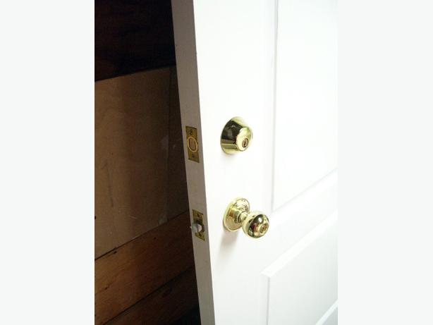 White Exterior Door With Locks Fire Rated Vancouver City