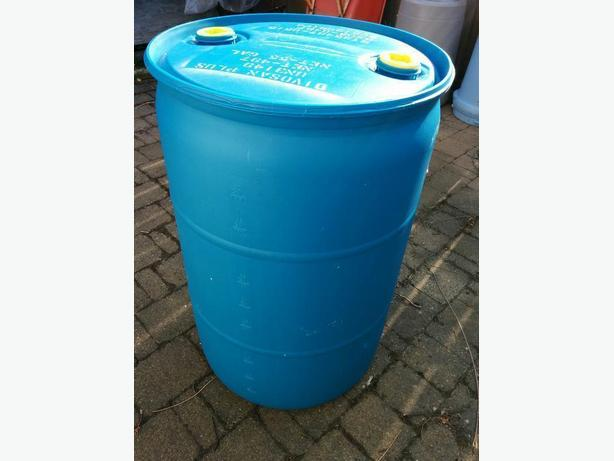 RAIN BARRELS or FLOTATION- 50USA GALLON- METAL ALSO