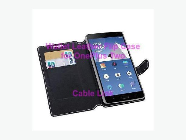 New Luxury Card Slot Glossy Leather Case Cover For OnePlus Two