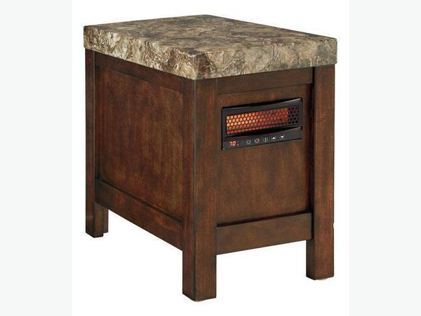 New Kraleene Chairside End Table with Heater