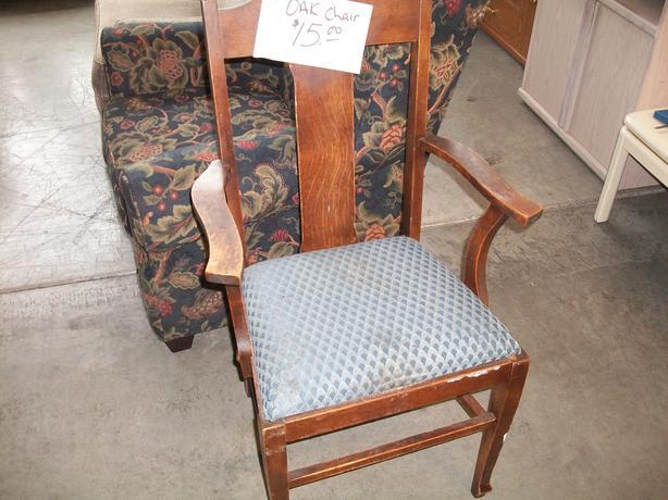 Oak Chair For Sale At The St Vincent De Paul Store On Quadra Saanich Victoria