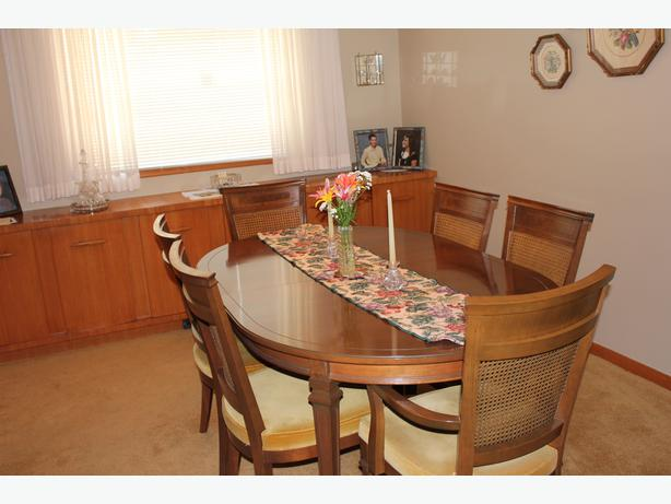 solid walnut dining room table and chairs south regina regina