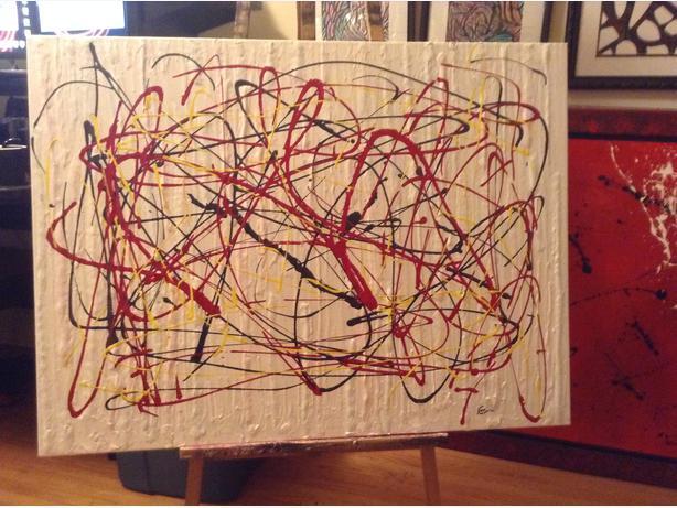 "really nice acrylic painting 40"" x 30"""