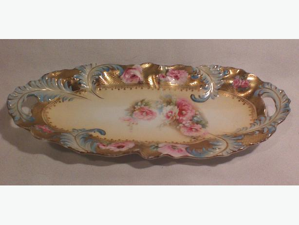 RS Prussia porcelain serving dish