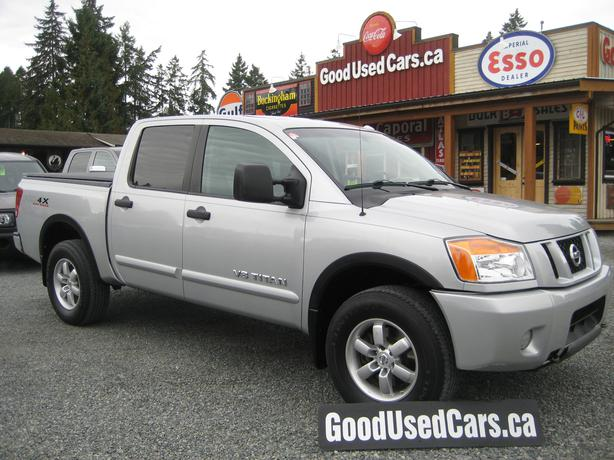 2008 nissan titan crew cab 4x4 sunroof power seat tonneau cover outside cowichan valley. Black Bedroom Furniture Sets. Home Design Ideas
