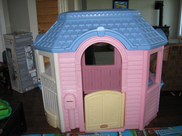 This is a great playhouse for the price. I bought this for my granddaughter (18 mos.). It is the perfect size for toddlers. My daughters had one of the first Little Tikes Classic Playhouse - .