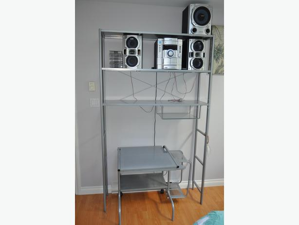 ikea metal wall shelf and student 39 s desk west shore. Black Bedroom Furniture Sets. Home Design Ideas