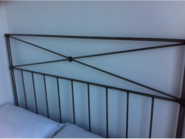 Reduced Pier One Wrought Iron Pewter Double Headboard