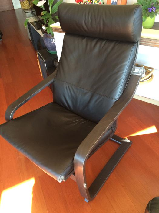 Wanted ikea poang black leather chair esquimalt view royal victoria - Red poang chair ...