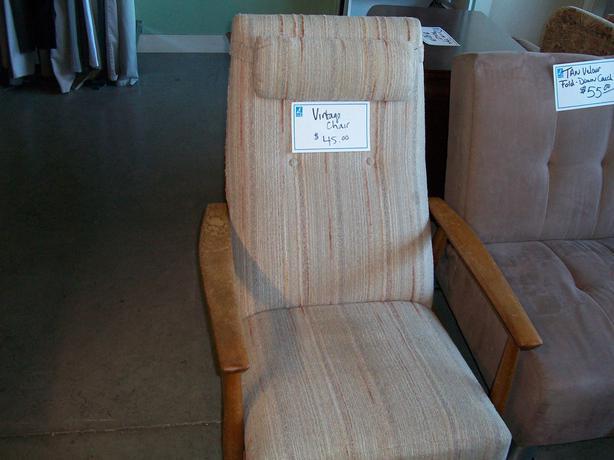 Vintage Chair For Sale At St Vincent De Paul On Quadra Saanich Victoria