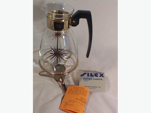 Silex coffee carafe with warmer