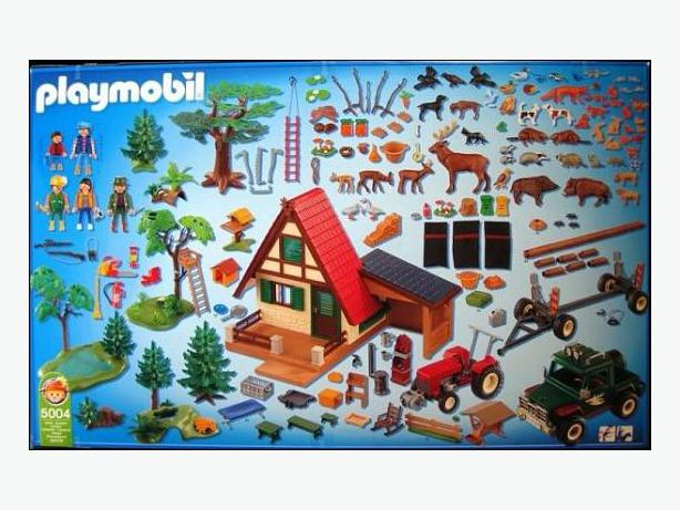 Playmobil Forest Lodge 5004 Tyrannosaurus Amp Velociraptors