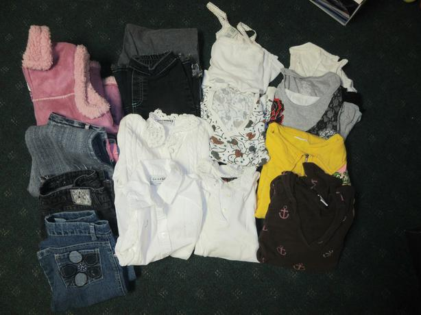 Girls clothing size 10-12 jeans cardigan tops athletic pants etc
