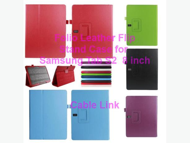"New PU Folio Stand Folding Case Samsung Galaxy Tab S2 8"" T710 T715"