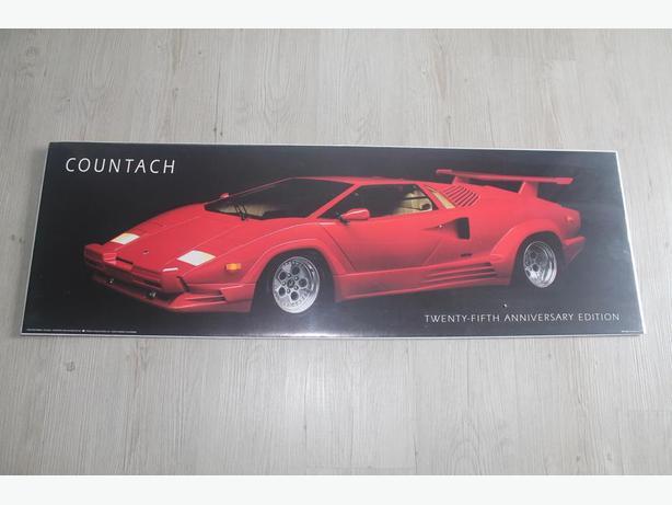 Red Lamborghini poster