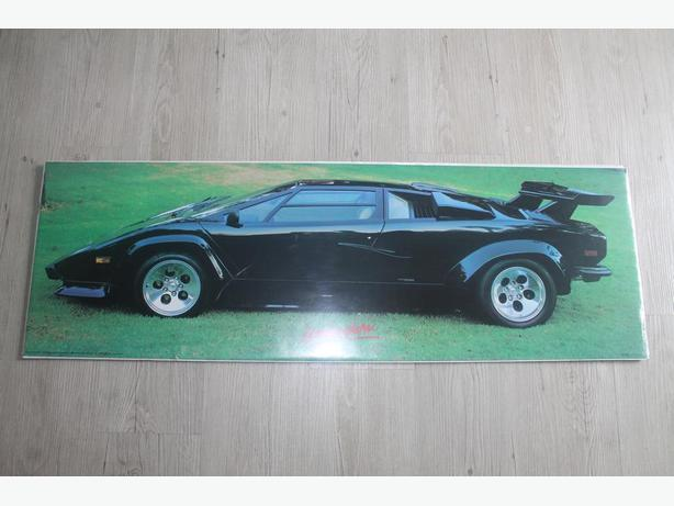 Black Lamborghini poster