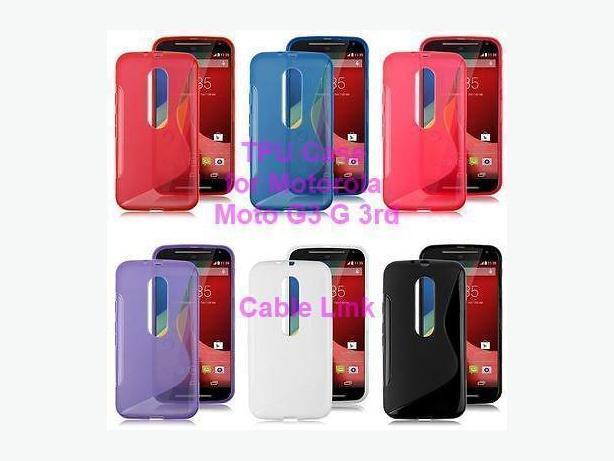S-Line Soft TPU Snap-on Case For Motorola Moto G 3rd Gen G3
