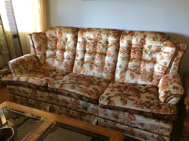 Excellent Condition Flower Pattern Sofa Set Saanich