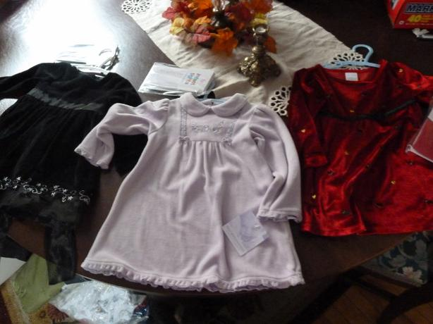 Girls holiday dress with matching tights