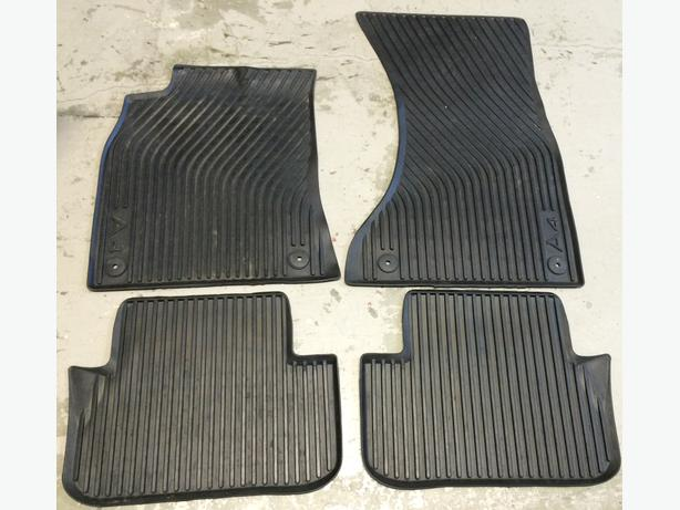 audi a4 or s4 2008 current original rubber floor mats. Black Bedroom Furniture Sets. Home Design Ideas