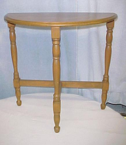 Small half moon or d accent table hallway entryway accent table ladysmith cowichan - Half table entryway ...